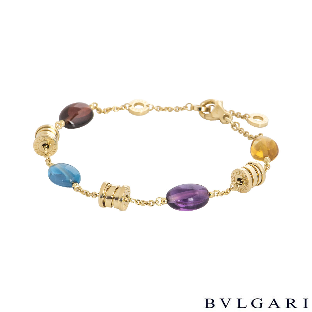 Bvlgari Yellow Gold Multi-Gem B.Zero1 Mini Bracelet BR854519